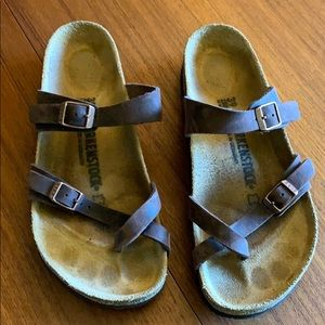 Mayari brown leather Birkenstock